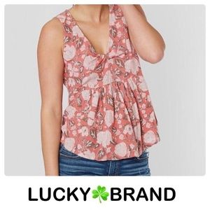Lucky 🍀 Brand pink floral shirt new with tag 3X